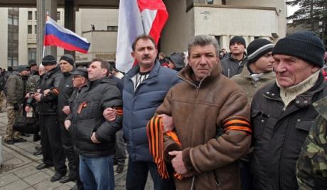 Митинг у здания Верховного совета Крыма
